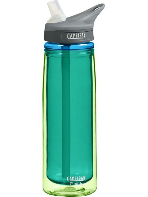 CamelBak eddy Insulated - Gourde - 600ml vert/Bleu pétrole